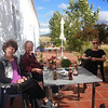 After a day of creative work, Yvonne, Nico, Jackson (and I) on the terrace