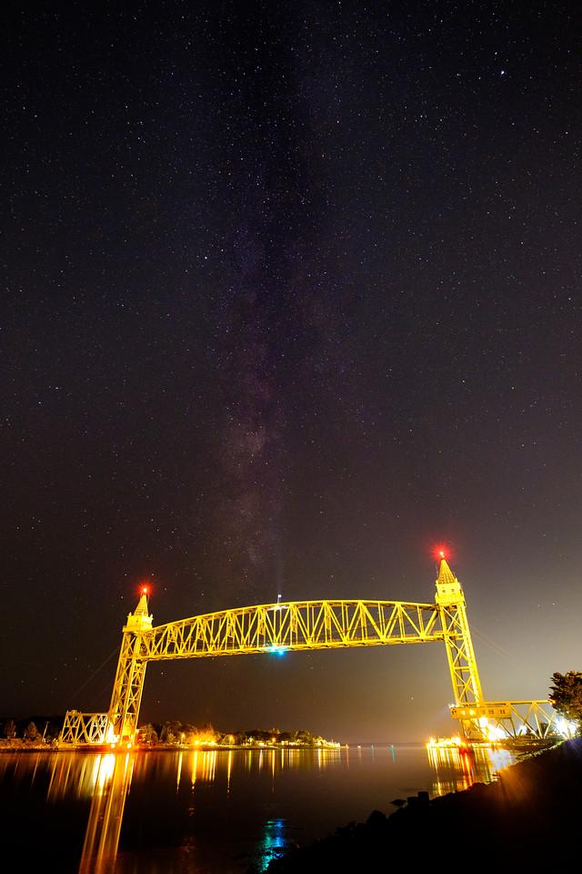 Train Bridge and the Galaxy