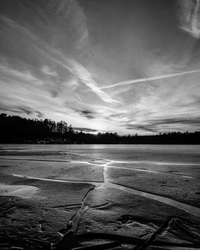 Ice Lines Sky Cracks