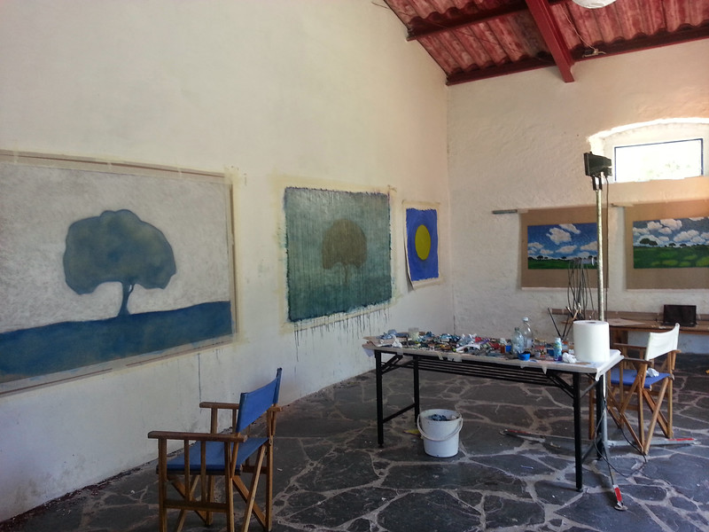 Work in progress, in studio, Portugal