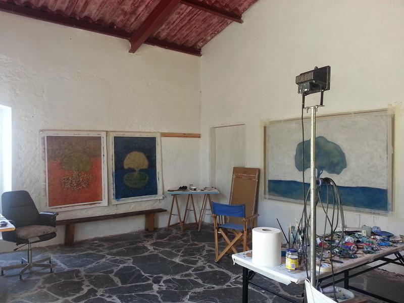 Work in progress in studio, Portugal