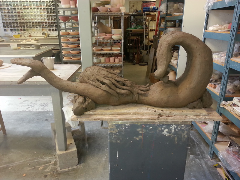 Another sculpture in progress, Berkeley