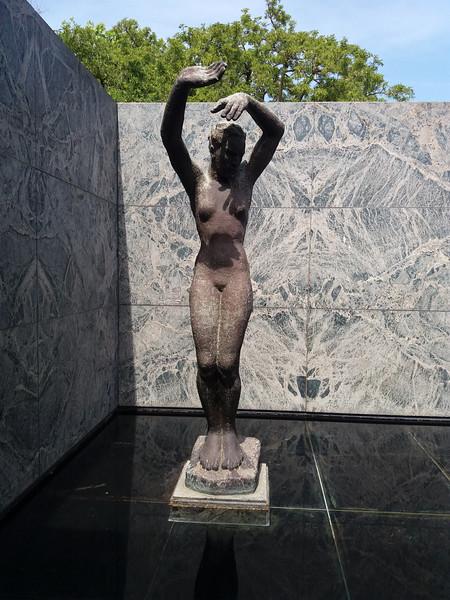 Statue at German Pavillion, Plaza  d'Espagna, Barcelona, Spain