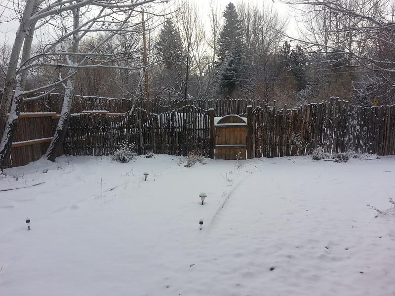 November snow, Taos