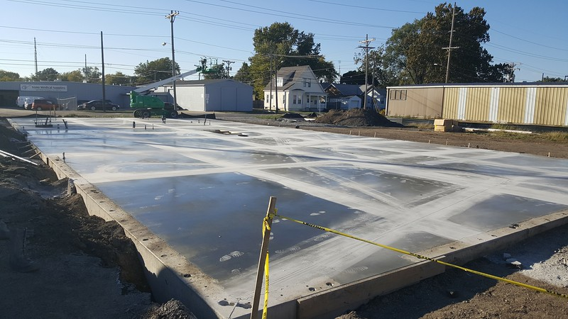 Floor poured and ready for above grade walls !!