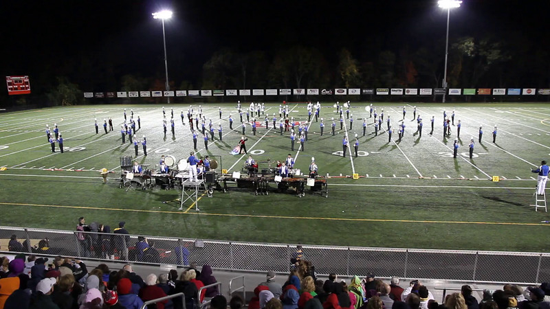 Acton-Boxborough Regional High School Marching Band, performing music from the Broadway musical Jeckel & Hyde at the MICCA Preview Show at Wakefield on Oct. 18, 2014. Band is directed by Mr. Mark Hickey.