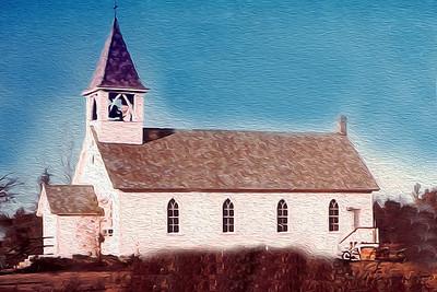 20151207 assumption church OCT 10 1964 oil painting