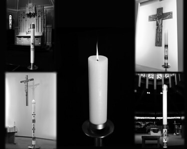 four candles and unity v4 black and white