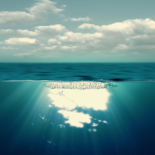 Summer sea, abstract environmental backgrounds