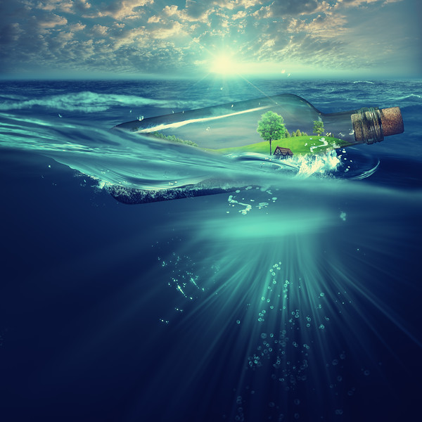 Deep ocean, marine backgrounds with waves and sea surface