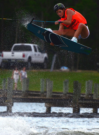 Melissa Marquardt, 28-year old Southern California wakeboarder for team Liquid Force.