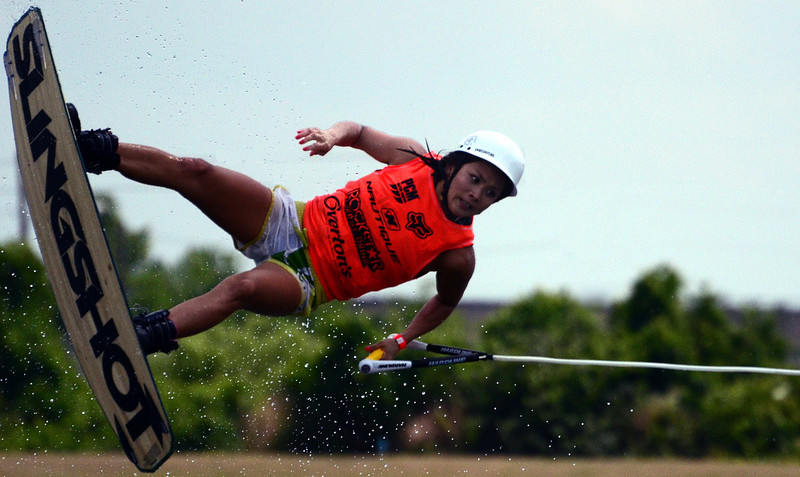 Miku Asai, 25-year old wakeboarder from Kagoshima, Japan.