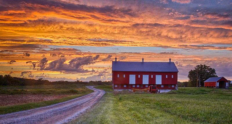 Sunset at Thomas Farm