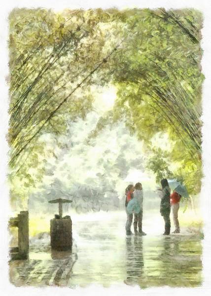 Meeting in the Rain
