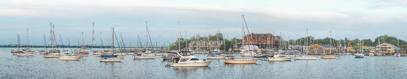 Anchored Sailboats -- Panorama