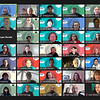 Screenshot one-of-three of a 35-person Zoom room made up of Maine AmeriCorps Member Conference attendees.
