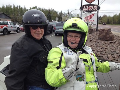 Cheryl Swinamer MacLaggan is always involved behind the scenes, helping however she can. Nice looking passenger you have there Cheryl. — with Ian Neilson