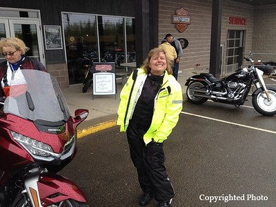 One of our great Motor Maids, always smiling and organizing. — with Lise LeBlanc