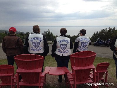 With Christine Frey, Lynn Marie Richard, Dianna Scallion Francis and Pam Pahl at Fundy National Park.