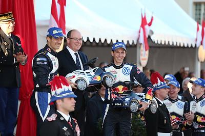 ogier s ingrassia j  prince albert latvala jm anttila m mikkelsen a floene o (fra) VW polo R WRC n°1 portrait podium 2015 RMC  (JL) -39