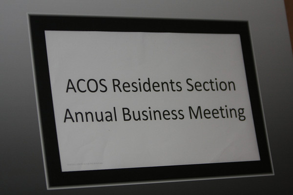 Resident Section Business Meeting