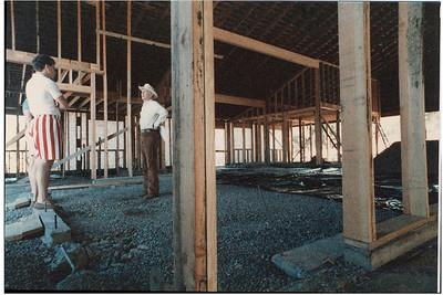 Gilman interior, early construction