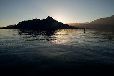 Stand up paddleboarding (SUP) in Porteau Cove, British Columbia
