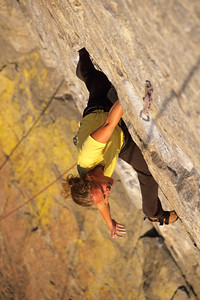 rock climbing at Skaha Bluffs, in Penticton, British Columbia, Canada