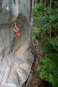 Climbing on the Stawamus Chief. Squamish, British Columbia, Canada