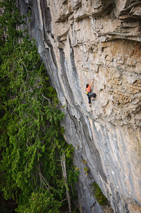Rock climbing near Horne Lake, British Columbia, Canada