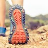 Hiking walking or running sports shoe sole