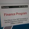 Finance Program, Thurs. Dec. 1, 2011