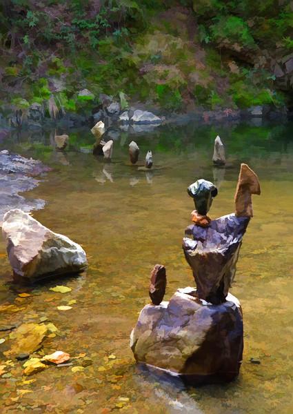 A Collection of California Central Coast Rock Balances