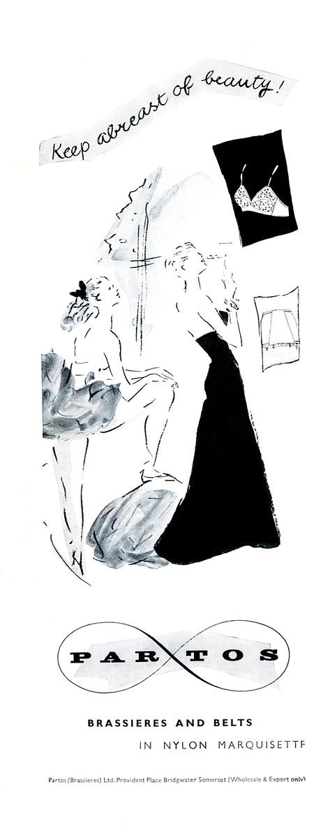 1950 PARTOS Brassières & belts UK (Harper's Bazaar)