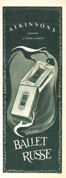1949 ATKINSONS Ballet Russe fragrance Argentina half page (Para Ti magazine)