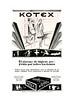 1929 KOTEX hygienic pads Spain (Blanco y Negro)