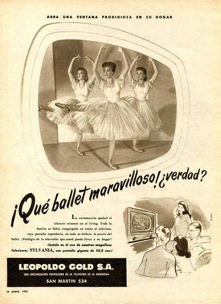 1952 SYLVANIA-LEOPOLDO GOLD TV sets: Argentine (ParaTi)