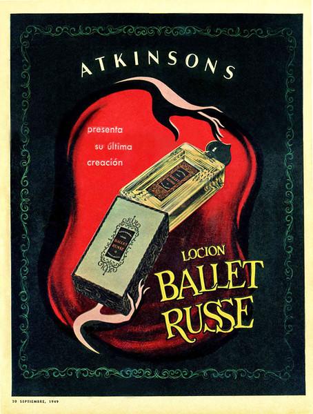 1949 ATKINSONS Ballet Russe fragrance Argentine (Para Ti) bis
