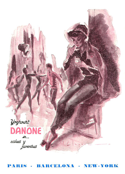 1952 DANONE youghourts Spain (from Liceu theatre programme)