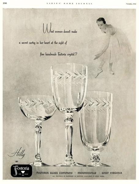 1952 Fostoria glass US (Ladies' Home Journal)