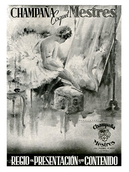 1952 MESTRES champagne Spain (from Liceu theatre programme) small format
