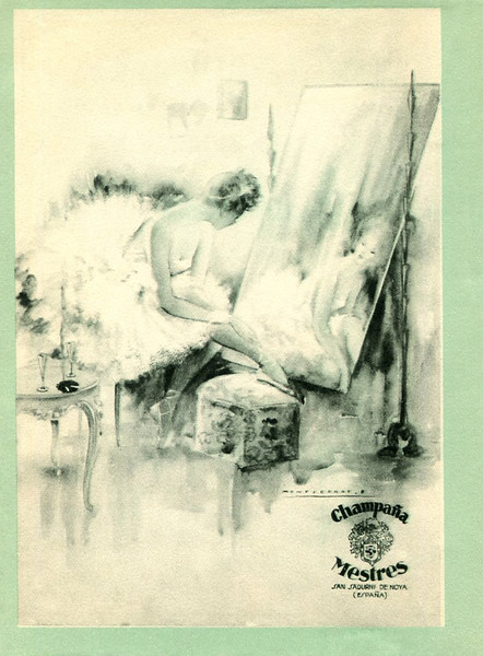 1950-1951 MESTRES champagne Spain (from Liceu theatre programme)