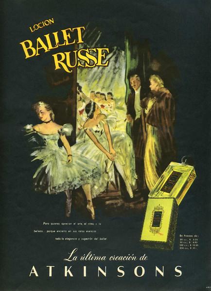 1950 ATKINSONS Ballet Russe fragrance Argentine (Para Ti)