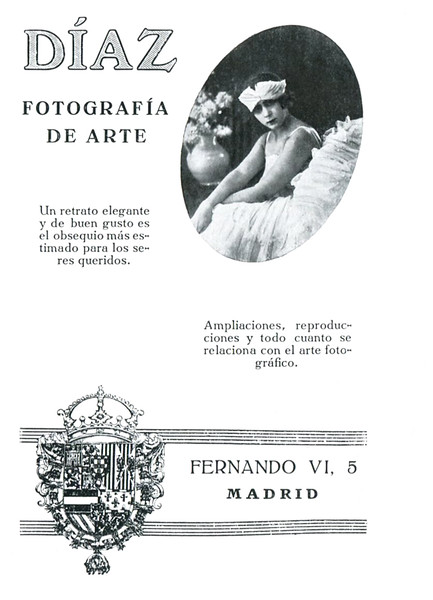 1923 DÍAZ photographic studio: Spain (Elegancias)