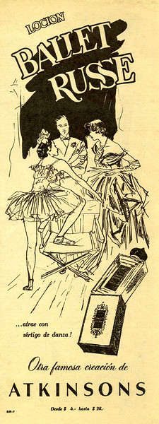 1951 ATKINSONS Ballet Russe fragrance Argentine (half page Para Ti)