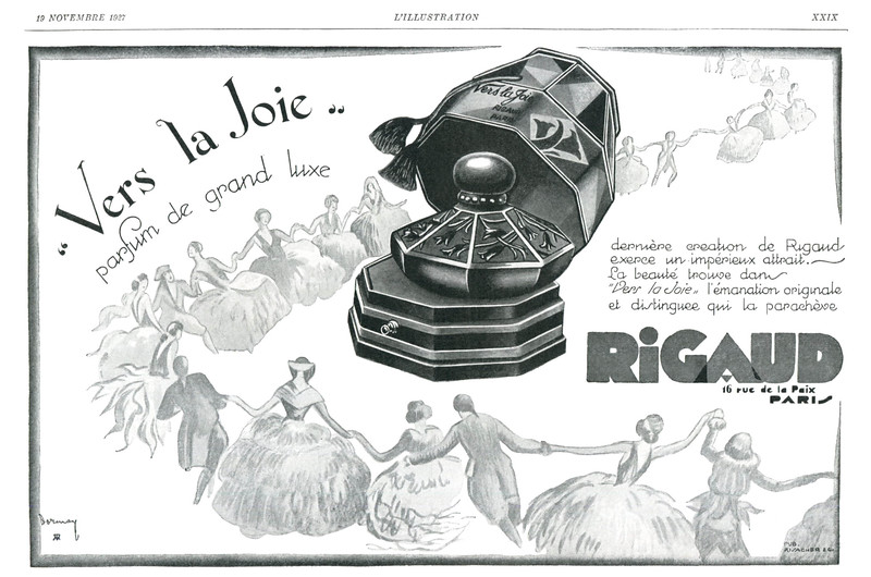 1927 RIGAUD Vers la Joie fragrance: France (L'Illustration)