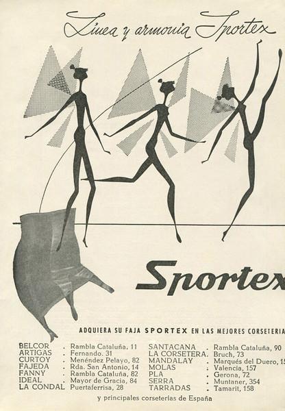 1958 SPORTEX girdles Spain (El Liceo theatre programme)