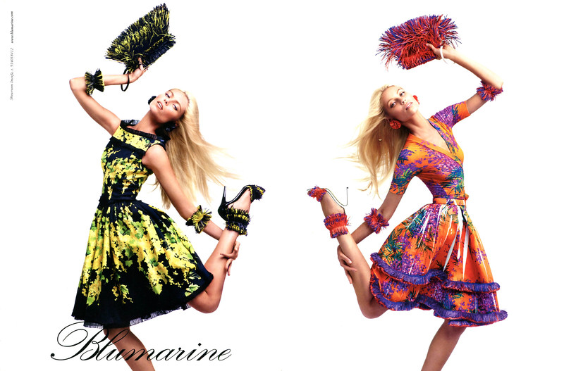 2012  BLUMARINE clothing (Spring-Summer collection) Spain (spread Vogue)