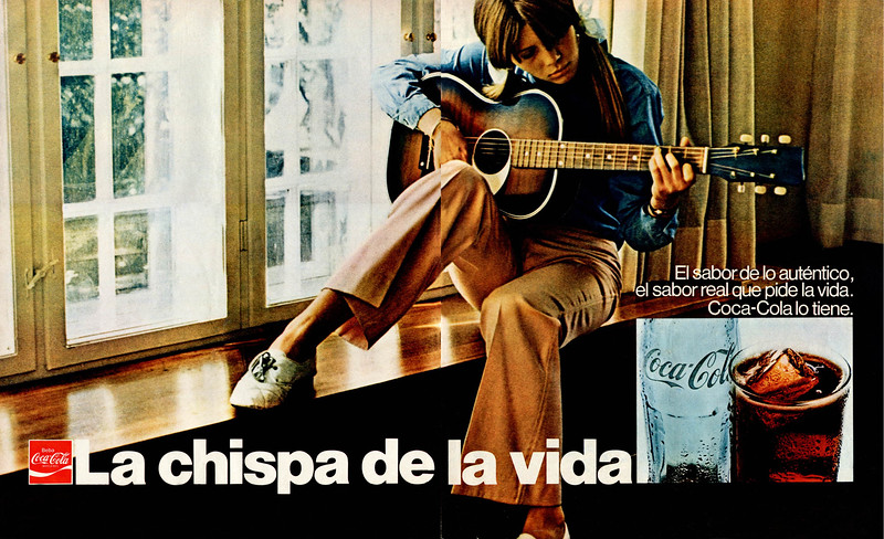 1971 COCA COLA Spain spread (Telva) 'The spark of life'
