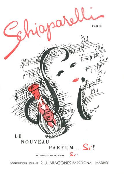 1959 SCHIAPARELLI Si fragrance: Spain (El Liceo theatre programme)